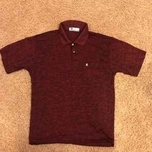 a415d2405a5 ... Men s Montagut Paris Polo Red Black Heathered Sz 5 ...